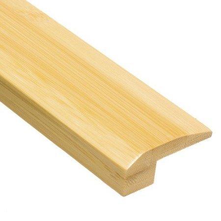 Prefinished Horizontal 5/8'' x 6.5' Natural Bamboo Carpet Reducer Molding Threshold by Natural Bamboo