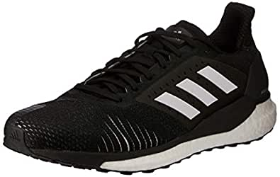 adidas Australia Men's Solar Glide ST Running Shoes, Core Black/Footwear White/Grey, 8 US