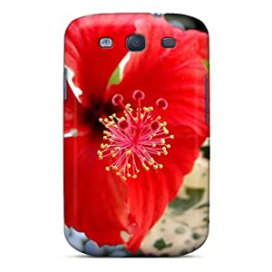 Fashionable Style Case Cover Skin For Galaxy S3- Red Flower