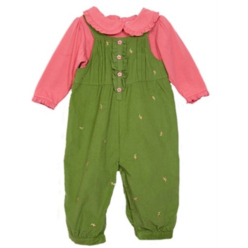 NWT BT Kids Baby Girl 2 pc cord overalls set
