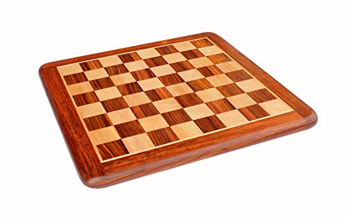 StonKraft Wooden Chess Board Without Pieces for Professional Chess Players - Appropriate Wooden & Brass Chess Pieces Chessmen Available Separately by Brand (21x21 Rosewood) ()