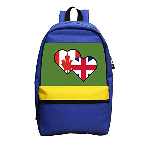 Mini School Backpack For Kindergarten Boy Girl Print Canada Flag Love Blue