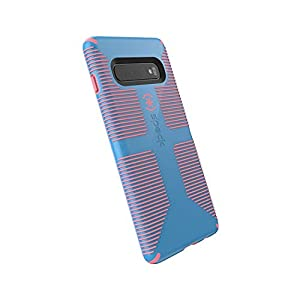 Speck Products CandyShell Grip Samsung Galaxy S10+ Case, Azure Blue/Melon Pink