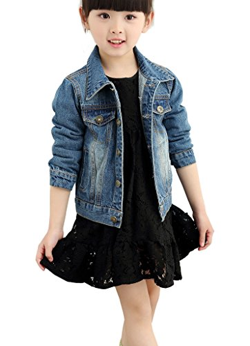 LOKTARC Kids Boys Girls Basic Long Sleeve Spring & Autumn Denim Jean Jackets