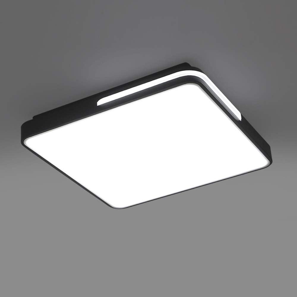 Aiqiyi Ménage Chaud Romantique Plafond Lampe LED Plafonnier Salon Lampe Simple Moderne Carré Forme Atmosphère Maison Noir Et Blanc Lampe De Chambre Lampe De Salle Lampe Blanc Lumière