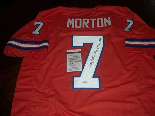 Craig Morton Denver Broncos Ring Of Fame 1988 Orange Sports Memorabilia JSA/Coa Autographed Signed Autograph ()