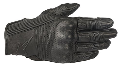 Mustang v2 Leather Motorcycle Street Riding Glove (XL, Black ()