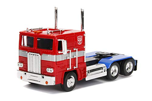 - Transformers G1 Optimus Prime Truck with Robot on Chassis Die-cast Car