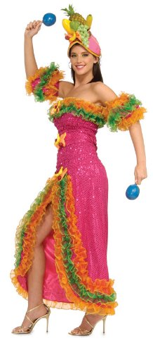 Rubie's Costume Grand Heritage Collection Deluxe Carmen Miranda Costume, Pink, Medium - Fruit Hat