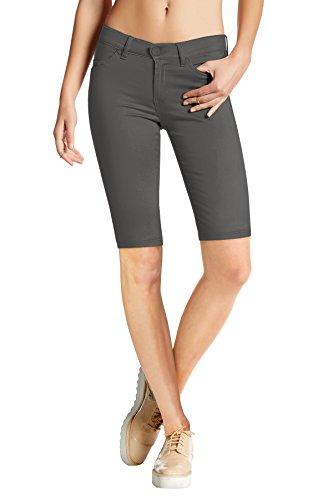(Womens Perfectly Shaping Hyper Stretch Bermuda Shorts B44876X Charcoal)