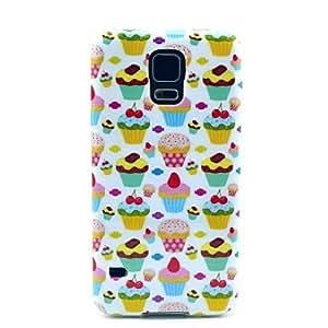 WQQ Patrón de fresa de la torta TPU cubierta suave para Samsung Galaxy i9600 S5