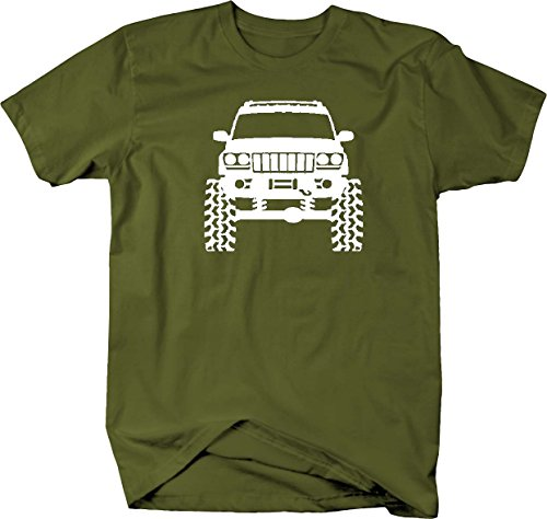 Jeep Grand Cherokee WJ Lifted Offroad 4x4 Mens T Shirt - Xlarge