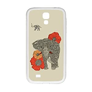 DAZHAHUI Beautiful flowers elephant Cell Phone Case for Samsung Galaxy S4