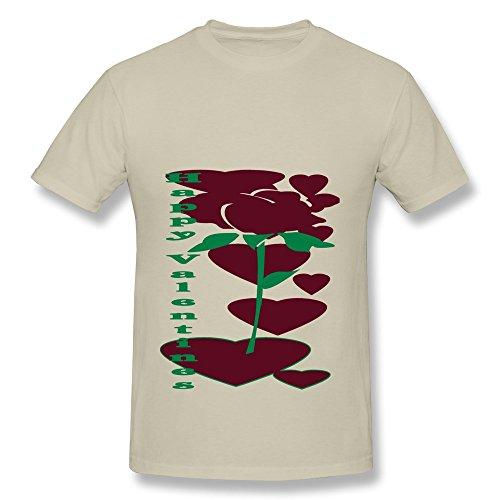 CHUNYAO Valentine Rose Tshirt For Men 3X Natural]()