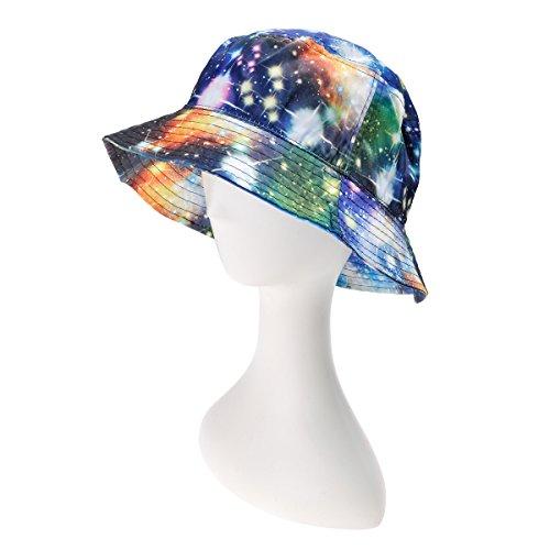 8999eab45eb ZLYC Unisex Galaxy Bucket Hat Summer Fisherman Cap For Men Women ...