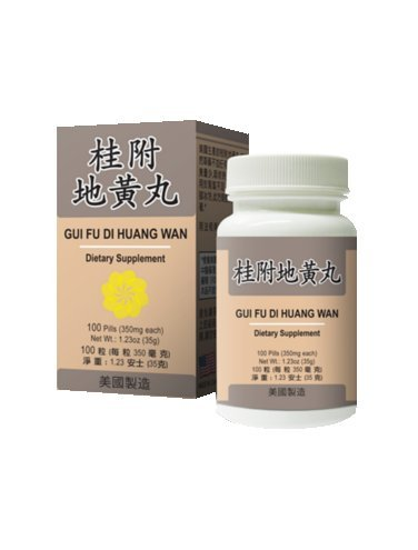 Gui Fu Di Huang Wan :: Kidney Health :: 100 Pills (350mg ea) :: Made in (You Gui Wan)