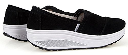 Forme Des Femmes Adultes Ups Tirer Sur Des Chaussures De Marche Casual Sneakers De Mode Noir