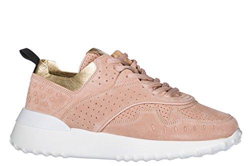 Tods Damesschoenen Tennisschoenen Dames Suède Schoenen Sneakers Roze