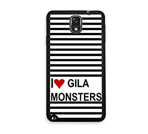 Love Heart Gila Monsters Samsung Galaxy Note 3 Note III Case - Fits Samsung Galaxy Note 3 Note III