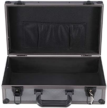 Aluminum Carrying Case Hard Case with Foam Insert Small Metal Tool Box with Edge Protection Multiple Specifications to Choose from Gray