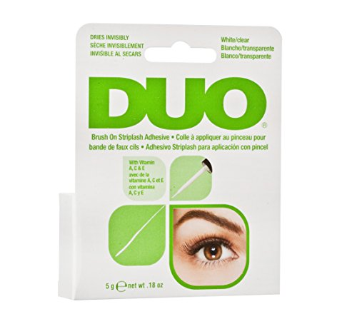 DUO Brush-On Lash Adhesive with Vitamins A, C & E, Clear, 0.18 oz (Best Eyelash Extension Glue On The Market)