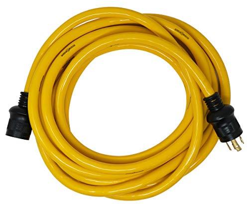 Yellow Jacket 1493 10/4 Heavy-Duty STW 30-Amp/250-Volt Nema L14-30 Generator Power Cord, 25-Feet