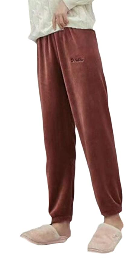 Joe Wenko Womens Fleece Flannel Winter Lounge Loungewear Pajama Bottoms Pants