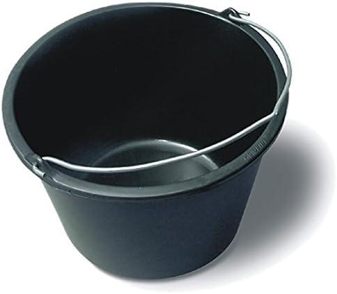 Toolzy 101512 Poubelle /à mortier en m/étal 16 l Noir