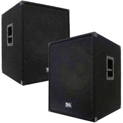 Seismic Audio - AftershockPKG8 - Pair of Powered 18'' Subwoofers, Pair of Dual 15'' PA Speakers, with Two Speaker and Two Microphone Cables - PA/DJ Package by Seismic Audio (Image #3)