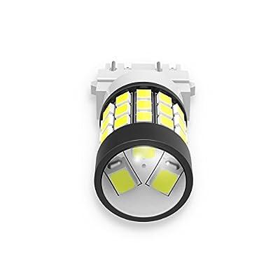 Alla Lighting T25 3157 3156 Strobe Reverse Light LED Bulbs Super Bright 2835 39-SMD High Power 3056 3156 4057 3457 3057 3157 LED Strobe Flashing Back-up Light Bulbs, 6000K Xenon White (Set of 2): Automotive