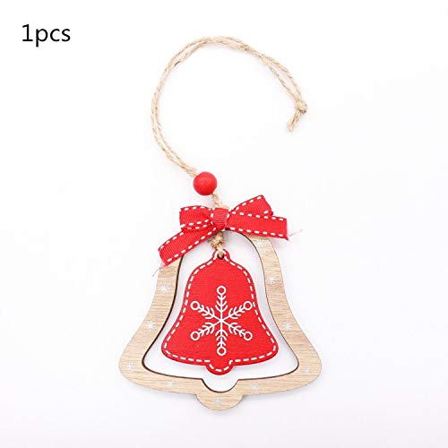 JEWH Christmas Wooden Pendants - DIY Wood Crafts Star&Heart - Xmas Tree Hanging Ornaments - Christmas Party for Kids - Gift Home Decorations (Stretch 4) -