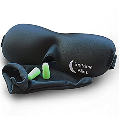 Bedtime Bliss BTB01 Contoured & Comfortable Sleep Mask