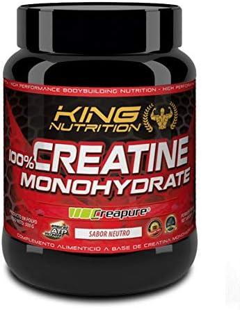 100% Creatine Monohydrate Creapure 500gr King Nutrition Creatina Monohidrato