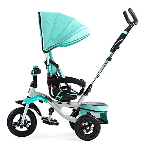 GHDE& 360° Rotating Seat Tricycle Kids Tricycle with Pedal Lock and Silent Wheels, Fit from 6 Months to 6 Years Max Load (Best Joe's Usa Baby Strollers)
