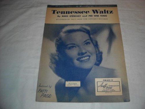 TENNESSEE WALTZ PATTI PAGE 1948 SHEET MUSIC SHEET MUSIC 234