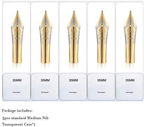 Gold tip 1.0mm Calligraphy Fude Nib Universal design broad 5PCS Fountain Pen Nibs Fit Jinhao 159//450//750