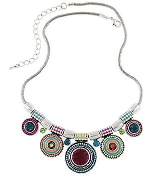 Collier Pour Femme Plastron Style Coloré Primi Bohème Charming vNnm0OywP8
