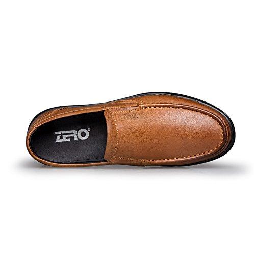 Zro Heren Moc-teen Schoen Antislip Modern Slip Op Bruin