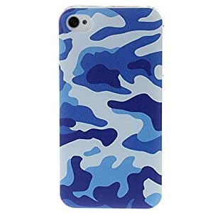 Camouflage Style Plastic Hard Case for iPhone 4/4S --- COLOR:Blue
