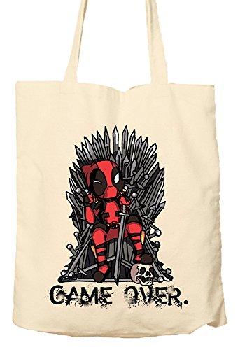 Deadpool Game of Thrones Parody–Umweltfreundlich Tasche, Natural Einkaufstasche