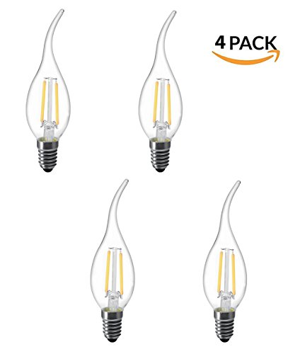 Wall Fitting Micro Jet (LUXON Flame tip LED filament candelabra light bulb Warm White 2700k Use in Chandeliers,Wall Sconces,and Pendant Lighting (4 Pack))