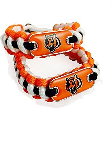 Cincinnati Bengals Bracelet NFL Orange Paracord Bracelets (2) Pack Bengals (Cincinnati Bengals Charm)