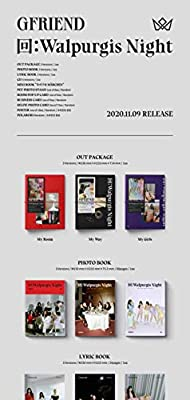 Gfriend 回:Walpurgis Night 3rd Album My Girls Version CD+1p Poster+60p PhotoBook+24p Lyrics+16p Mini Book+1p PhotoStand+1p Pop-Up Card+1p Business Card+1p Selfie+Message PhotoCard Set+Tracking Kpop