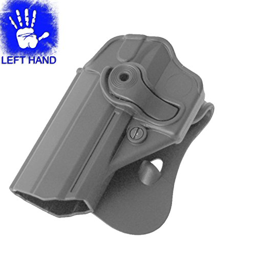 IMI Defense Left Hand Level 2 Retention Roto Black Polymer Paddle Holster for Jericho Baby Eagle 941 Steel Frame - IMI-Z1270 LH