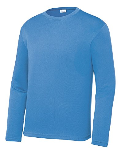 Opna Youth Athletic Performance Long Sleeve Shirts for Boy's Or Girl's – Moisture Wicking ()