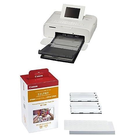 Canon SELPHY CP1200 - Impresora fotográfica, blanca + papel ...