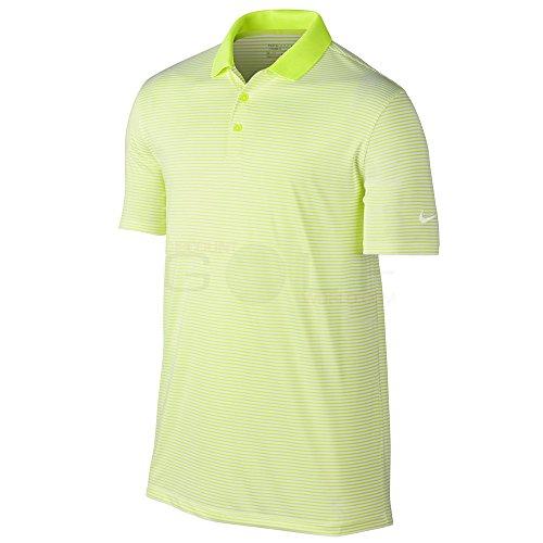 Custom Fit Stripe Polo - Nike Victory Mini Stripe Men's Golf Polo (Volt/White, Small)
