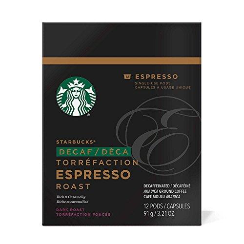 (Starbucks Decaf Espresso Roast Espresso Verismo Pods (12 Count),Black)