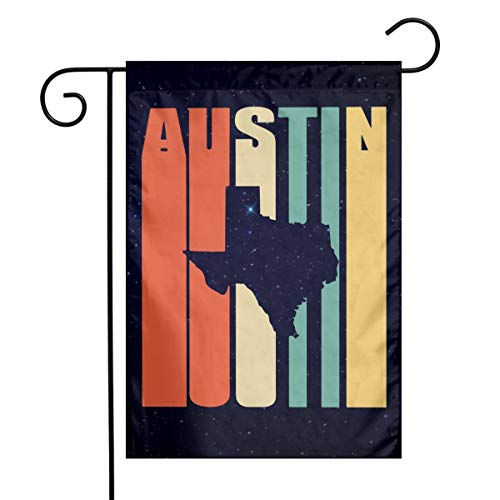 Vintage Austin Texas Custom Home Backyard Garden Flag Festival Garden Flag 12
