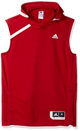 adidas NCAA Indiana Hoosiers Mens On Court S/Shooting Shirton Court S/Shooting Shirt, Victory Red, Medium Court Shooting Long Sleeve